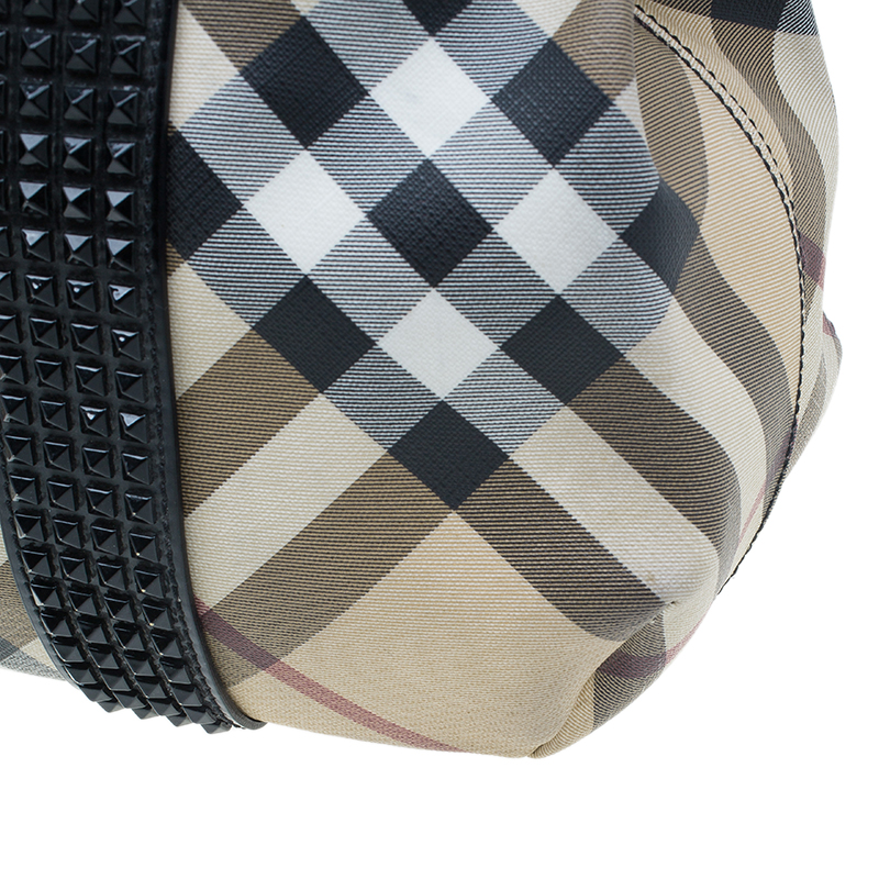 Burberry Black Nova Check Tote Bag