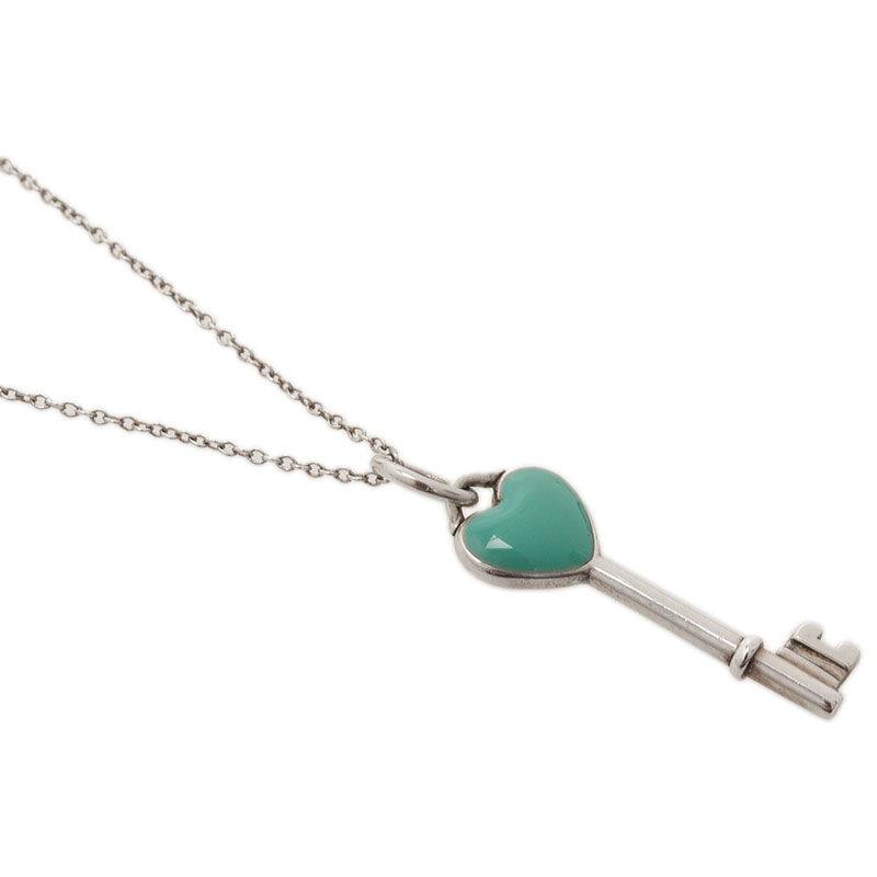 Tiffany & Co. Tiffany Keys Heart Key Silver Charm Necklace