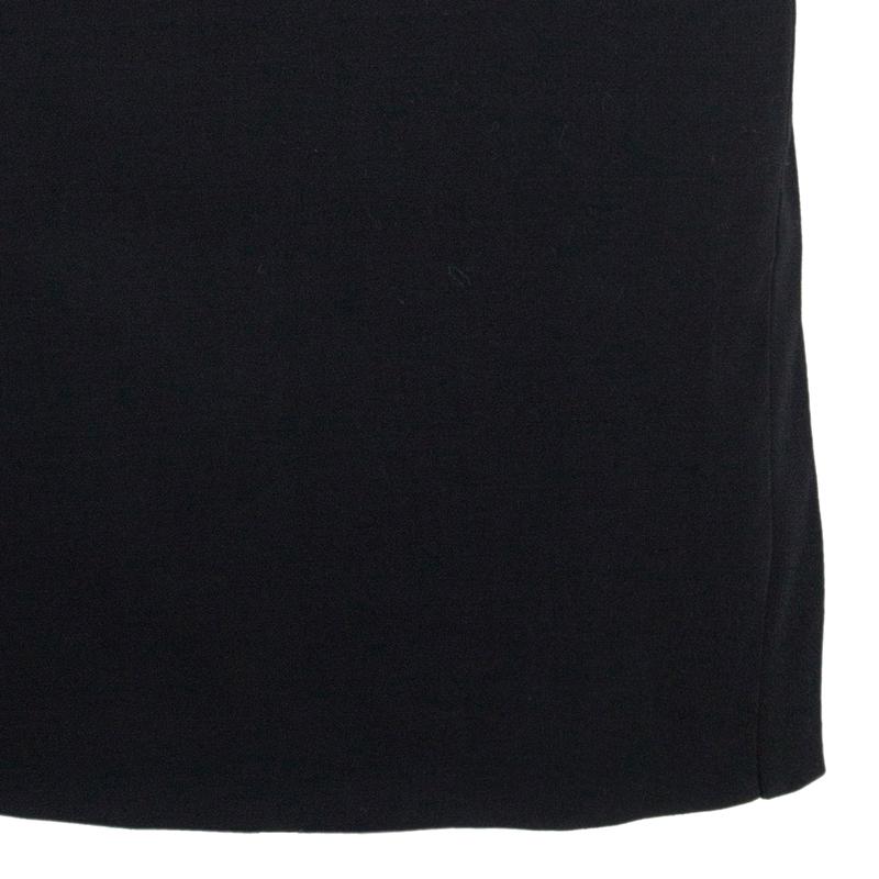Philosophy di Alberta Ferretti Black Shoulder Detail Dress M