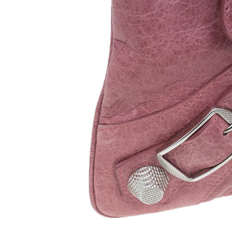 Balenciaga Pink Lambskin Leather Flat Clutch