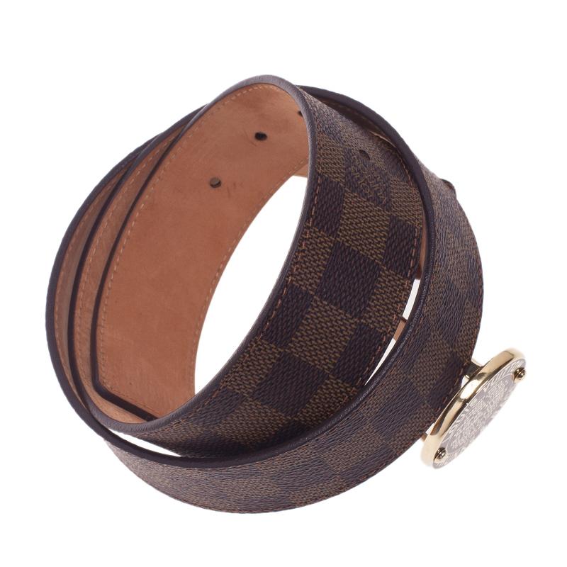 Louis Vuitton Damier Ebene Trunks and Bags Belt 90CM
