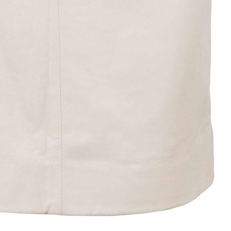 Prada Nude Leather Skirt S