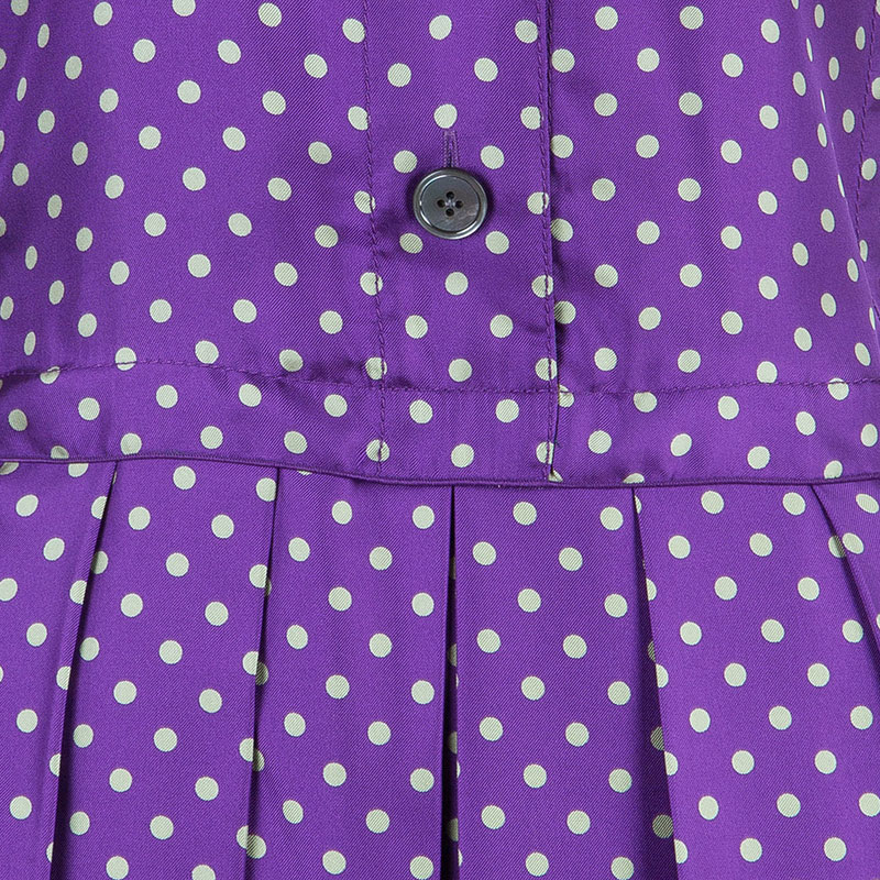 Marc Jacobs Multicolor Dotted Silk Dress M