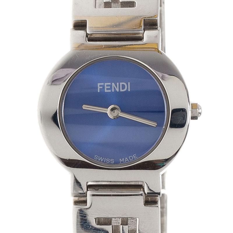 Fendi Royal Blue Stainless Steel 3050L Women's Wristwatch 24MM