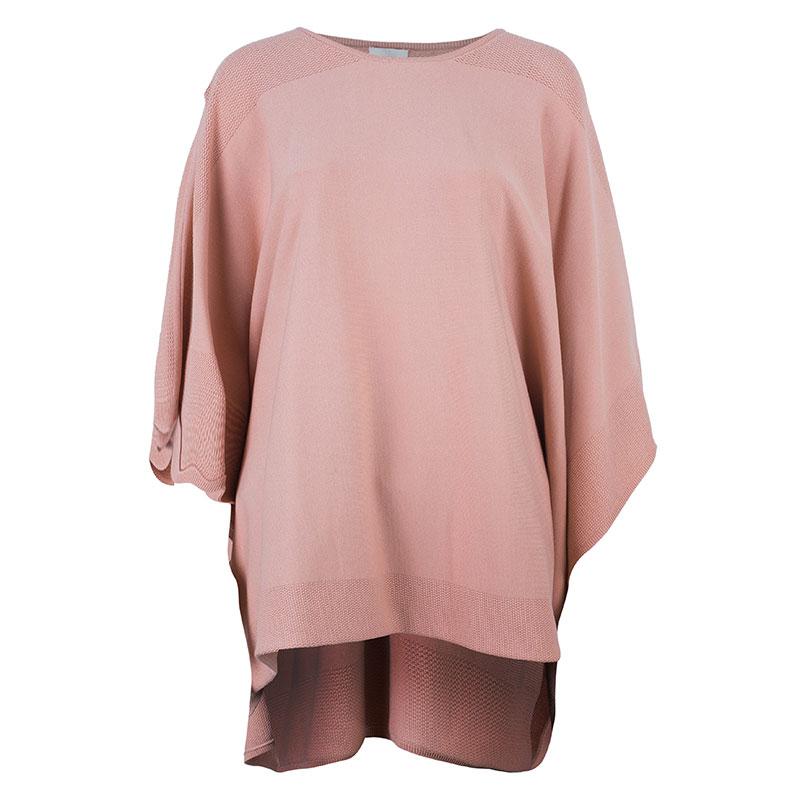 Chloe Salmon Pink Poncho Top M