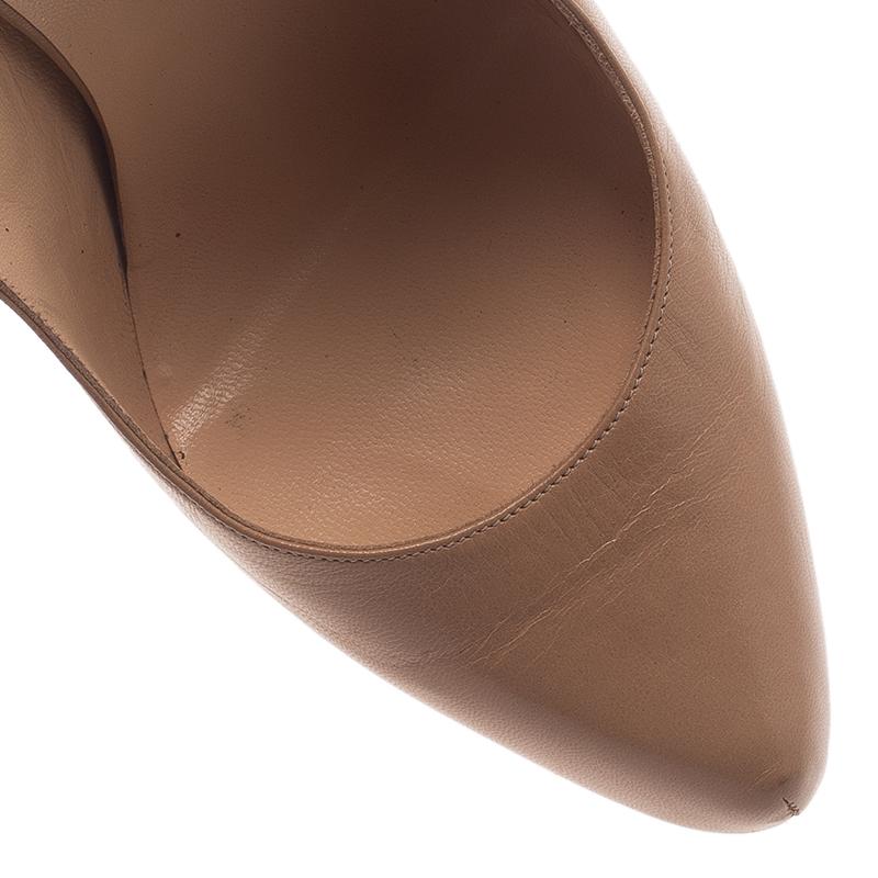 Christian Louboutin Beige Leather Daf Slingback Sandals Size 41