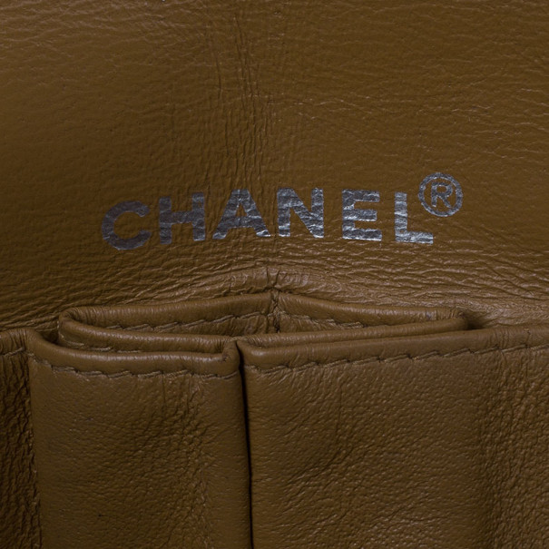 Chanel Beige Quilted Wool and Patent Leather East/West Mademoiselle Flap Bag
