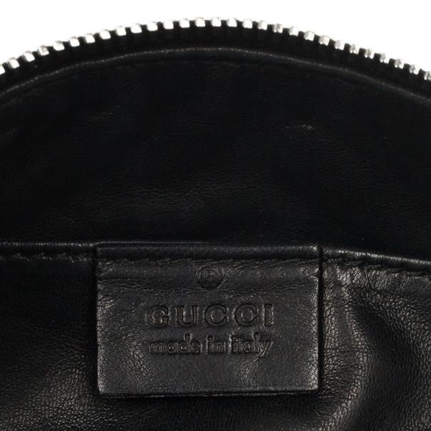 Gucci Black Bamboo Tassels Clutch