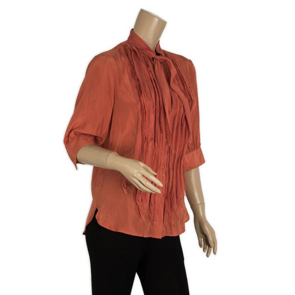 Fendi Silk Orange Shirt S