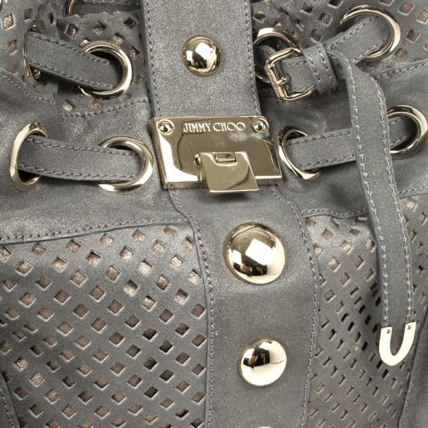 Jimmy Choo Limited Edition Suede Riki Bag