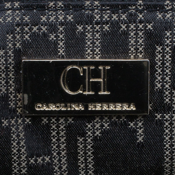 Carolina Herrera Black Patent Chain Handle Tote