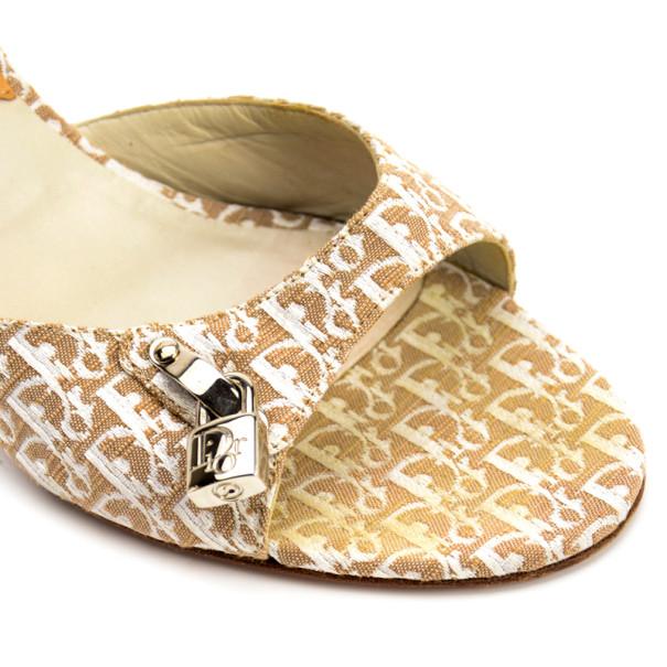 Christian Dior Diorissimo Padlock Key Mules Size 40.5