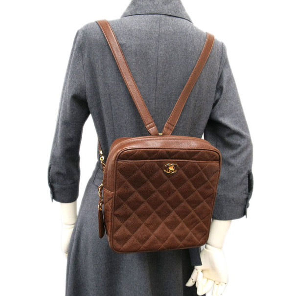 Chanel Brown Caviar Backpack