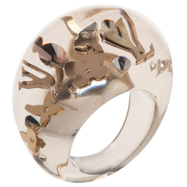 Louis Vuitton Inclusion Transparent Ring Size 54.5