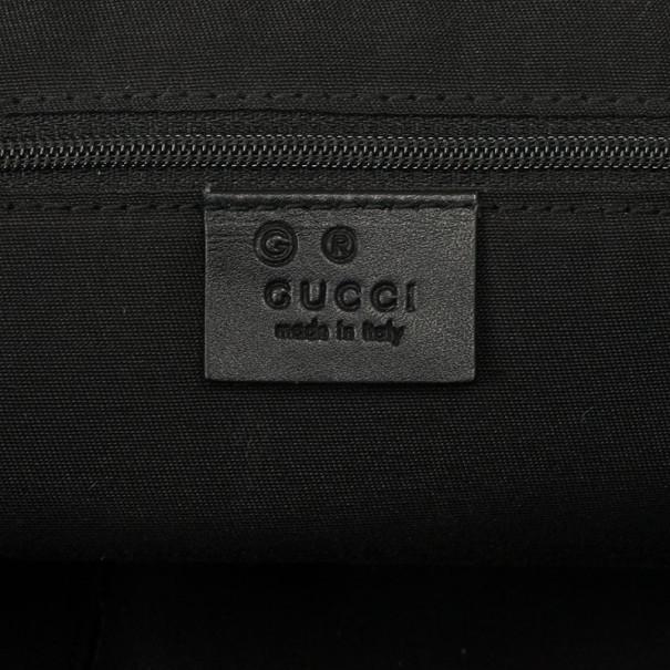 Gucci Grey GG Denim Canvas Tote