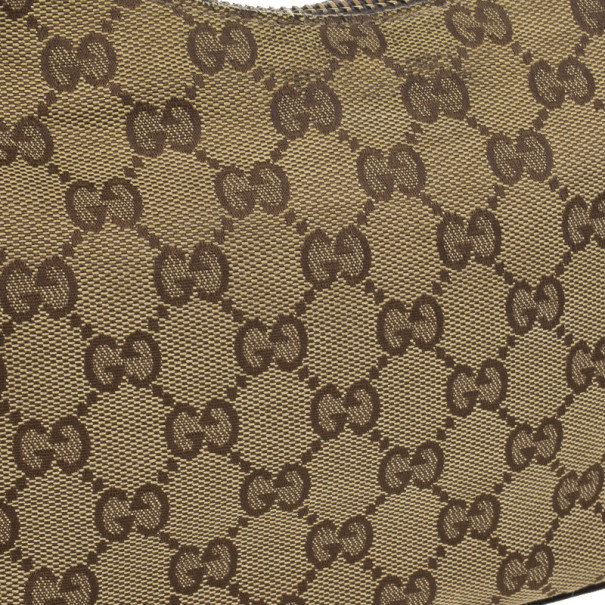 Gucci GG Canvas Monogram Brown Hobo