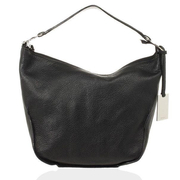 Furla Onyx Leather 'Hope' Shoulder Bag