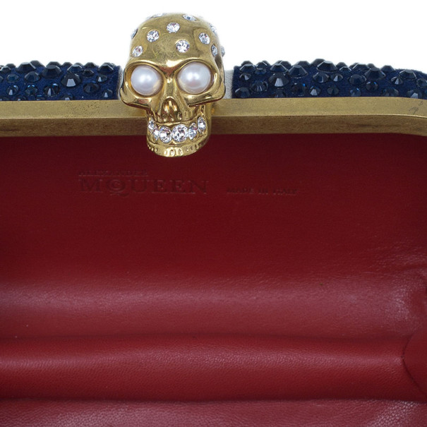 Alexander McQueen Crystal Embellished Brit Flag Clutch