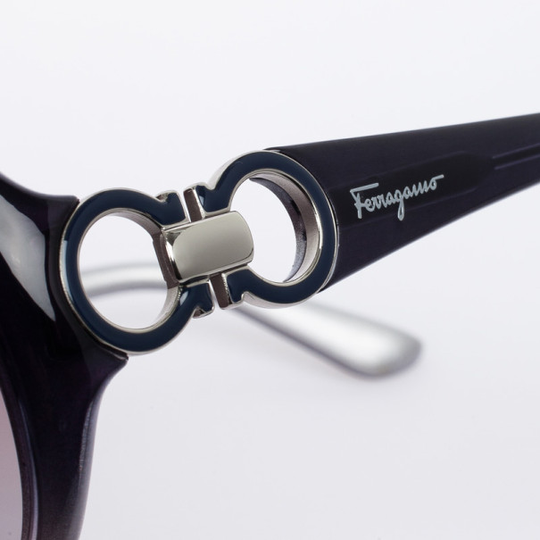 Salvatore Ferragamo 602S Grey Round Womens Sunglasses