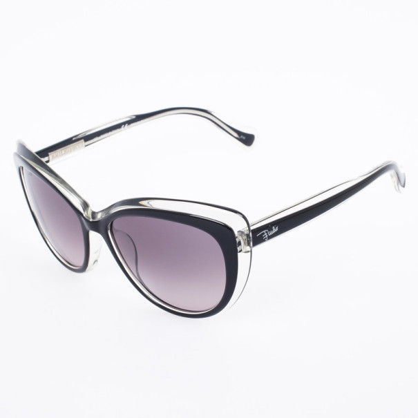 Emilio Pucci 721S Black Crystal Cat Eye Womens Sunglasses