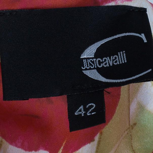 Just Cavalli Floral/Animal Print Maxi Dress M