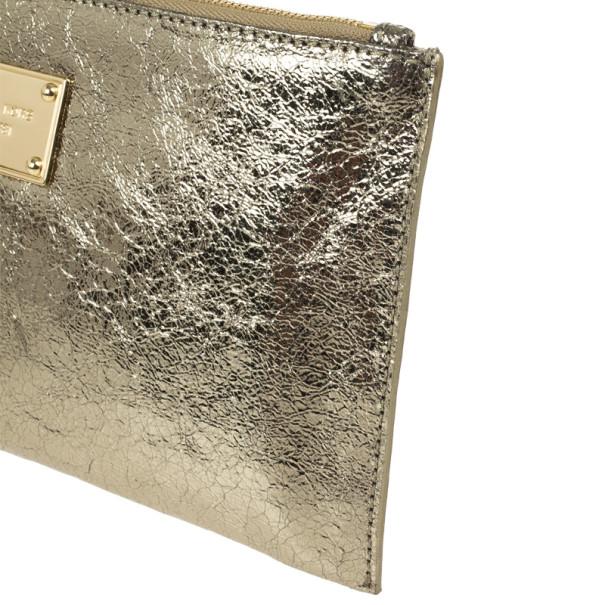 MICHAEL Michael Kors Bronze Large Clutch Bag