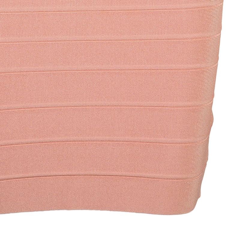 Herve Leger Scarlett Blush Pink Bandage Dress XS