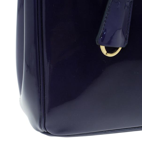 Prada Purple Patent Medium Lux Double-Zip Tote