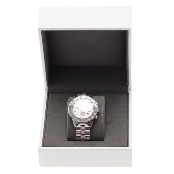 Dior Silver Stainless Steel Christal Women's Wristwatch 38MM