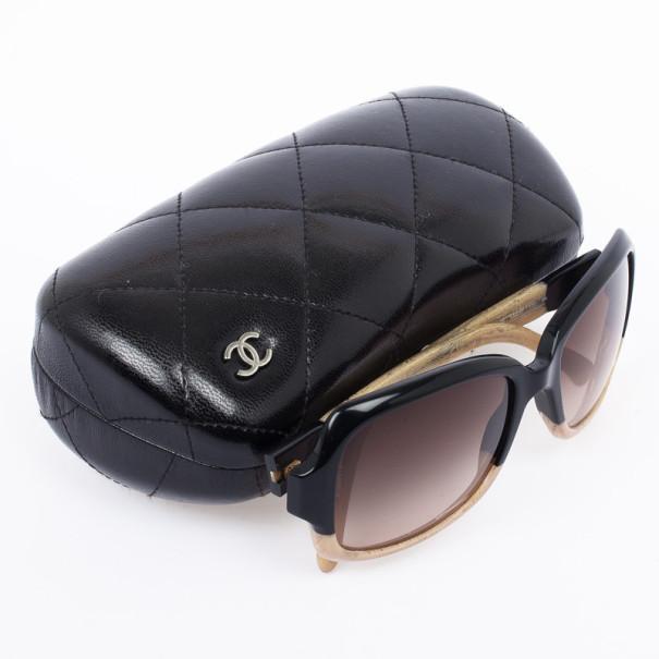Chanel Havana Beige 5177 Rectangle Womens Sunglasses