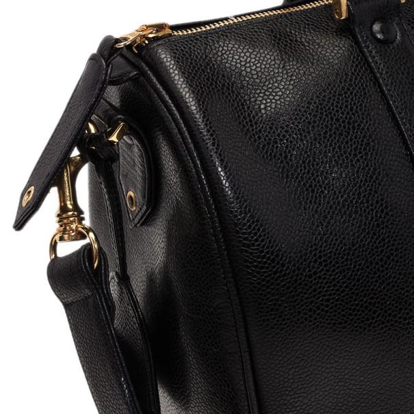 Chanel Black Caviar Vintage Boston Bag