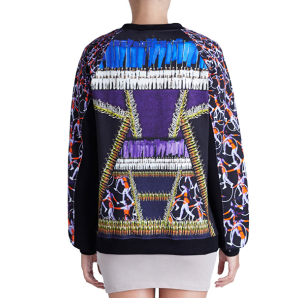 Peter Pilotto Printed Cotton Sweater S