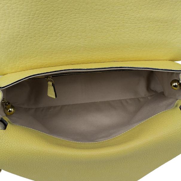 Chloe Yellow Leather Sally Bag