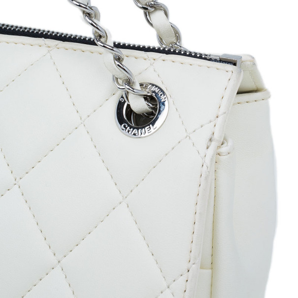 Chanel White Limited Edition Blizzard Jumbo Flap Bag