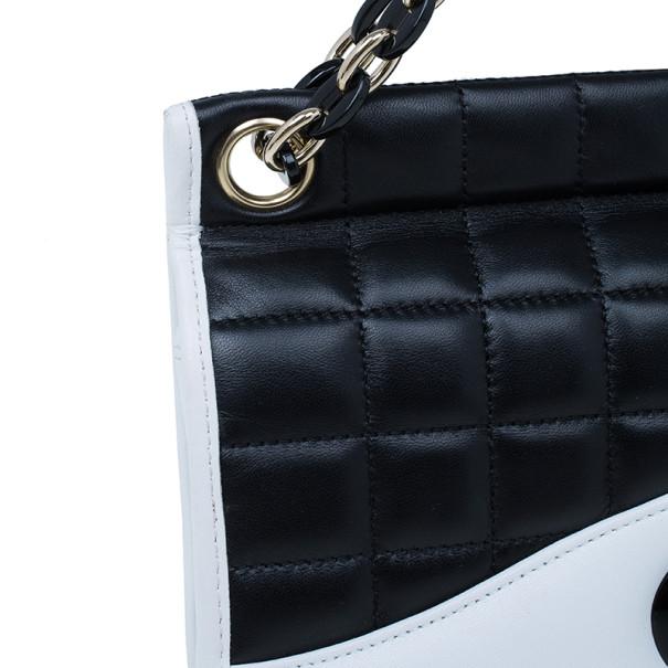 Chanel Monochrome Lambskin Chocolate Bar Mademoiselle Flap Bag