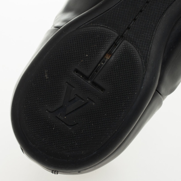 Louis Vuitton Black Calf Leather Mendoza Derby Size 41
