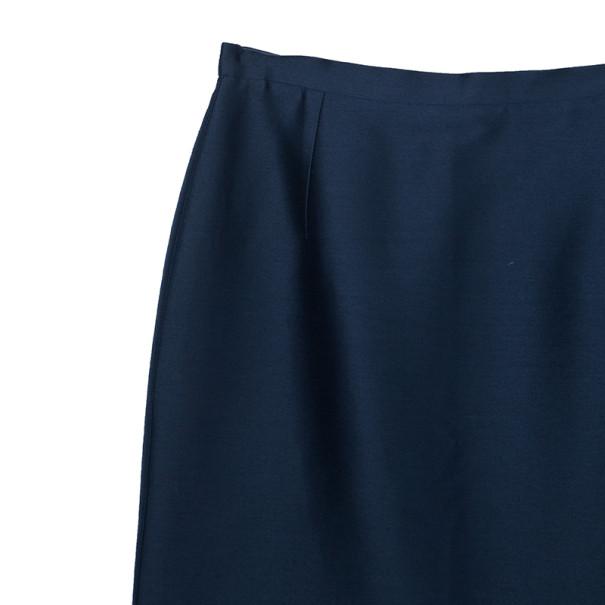 Oscar de la Renta Navy High Waist Skirt M