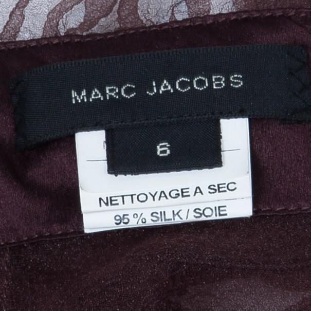 Marc Jacobs Burgundy Ruffle Top M
