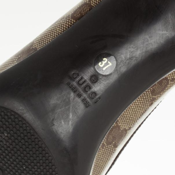 Gucci Guccissima Crystal Bow Pumps Size 37