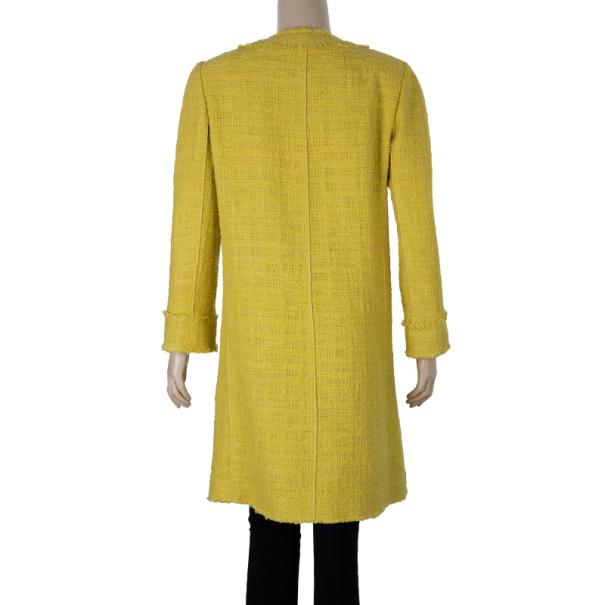 Dolce and Gabbana Yellow Tweed Coat M