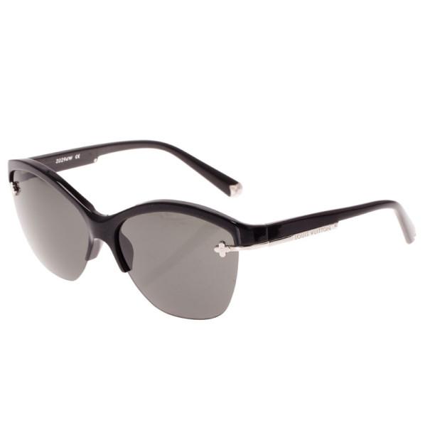Louis Vuitton Black Glitter Violette Cat Eye Sunglasses