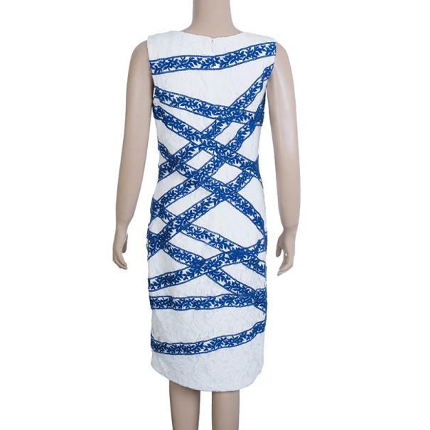 Tadashi Shoji White Lace Shift Cocktail Dress M