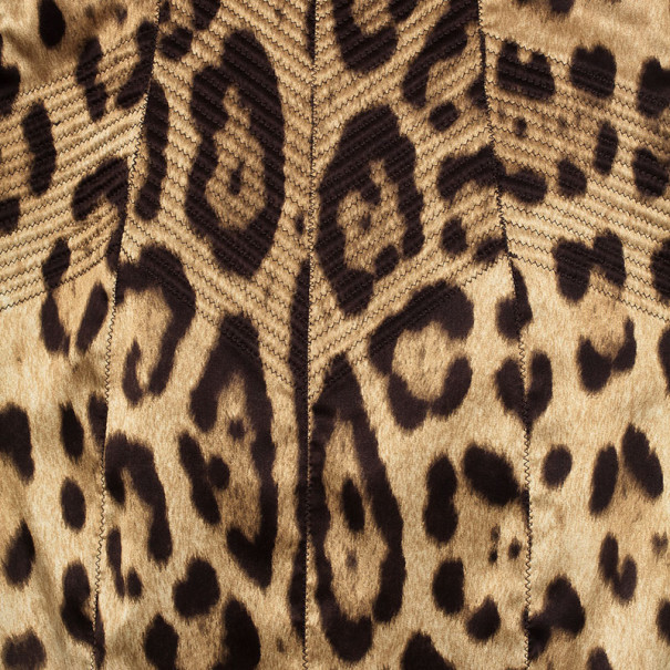 Dolce and Gabbana Leopard Print Corset Dress M