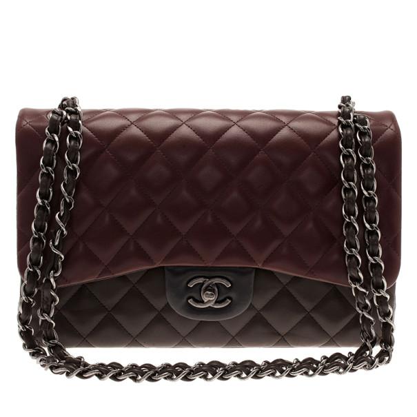Chanel Tricolor Leather Paris Edinburgh Double Flap Bag