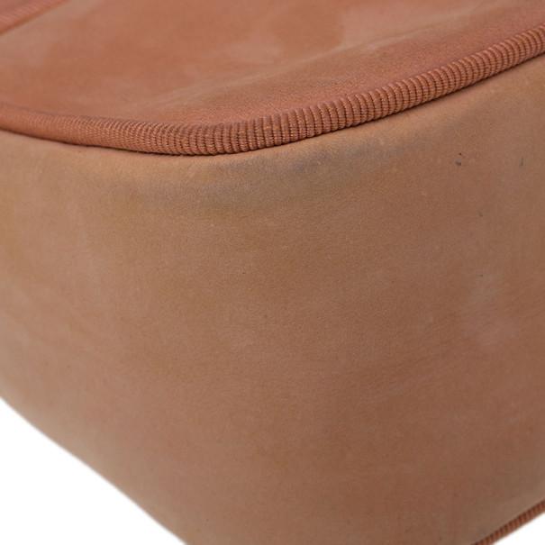 Salvatore Ferragamo Orange Suede Small Shoulder Bag