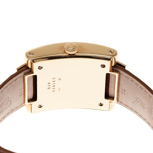Chopard White 18K Yellow Gold La Strada Women's Wristwatch 32MM