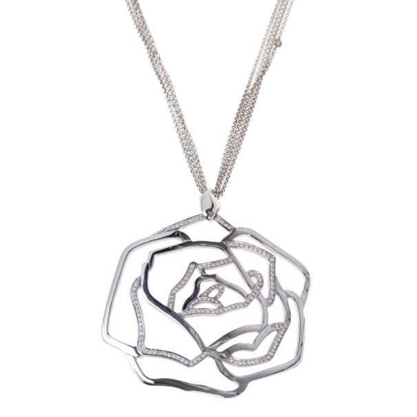 Gavello Diamond 18K White Gold Pendant Necklace