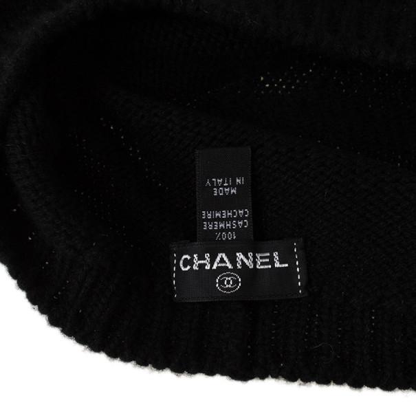 Chanel Black Cashmere Beanie