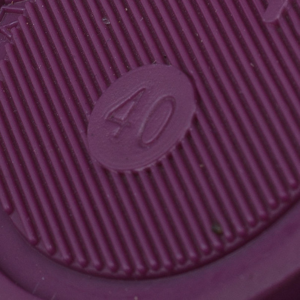 Burberry Purple Jelly Sandals Size 40