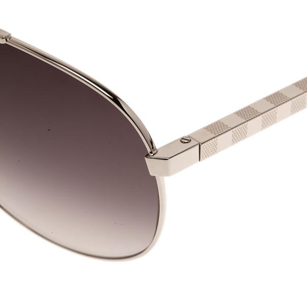 Louis Vuitton Silver Attitude Pilote Unisex Aviators